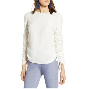 Halogen Cinched Sleeve Blouse